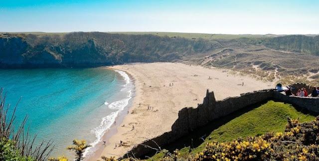 Pantai Wales Path, Wales, UK