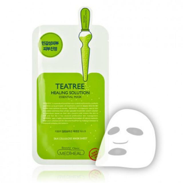 3. Mặt nạ Mediheal Tea Tree Healing Solution Essential Mask