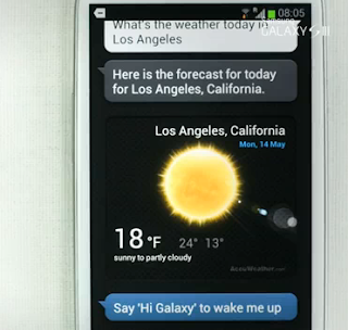 Galaxy S III intelligence demo