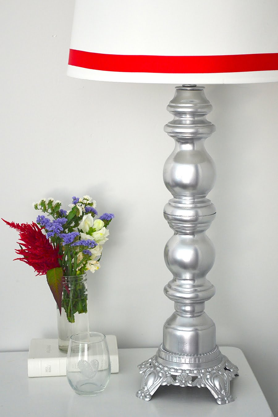 Nightstand & Lamp Makeover