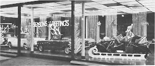 Christmas display at F Mitchell (Nottingham) Ltd 1966