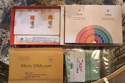 محتويات علبة الفحص FamilytreeDNA