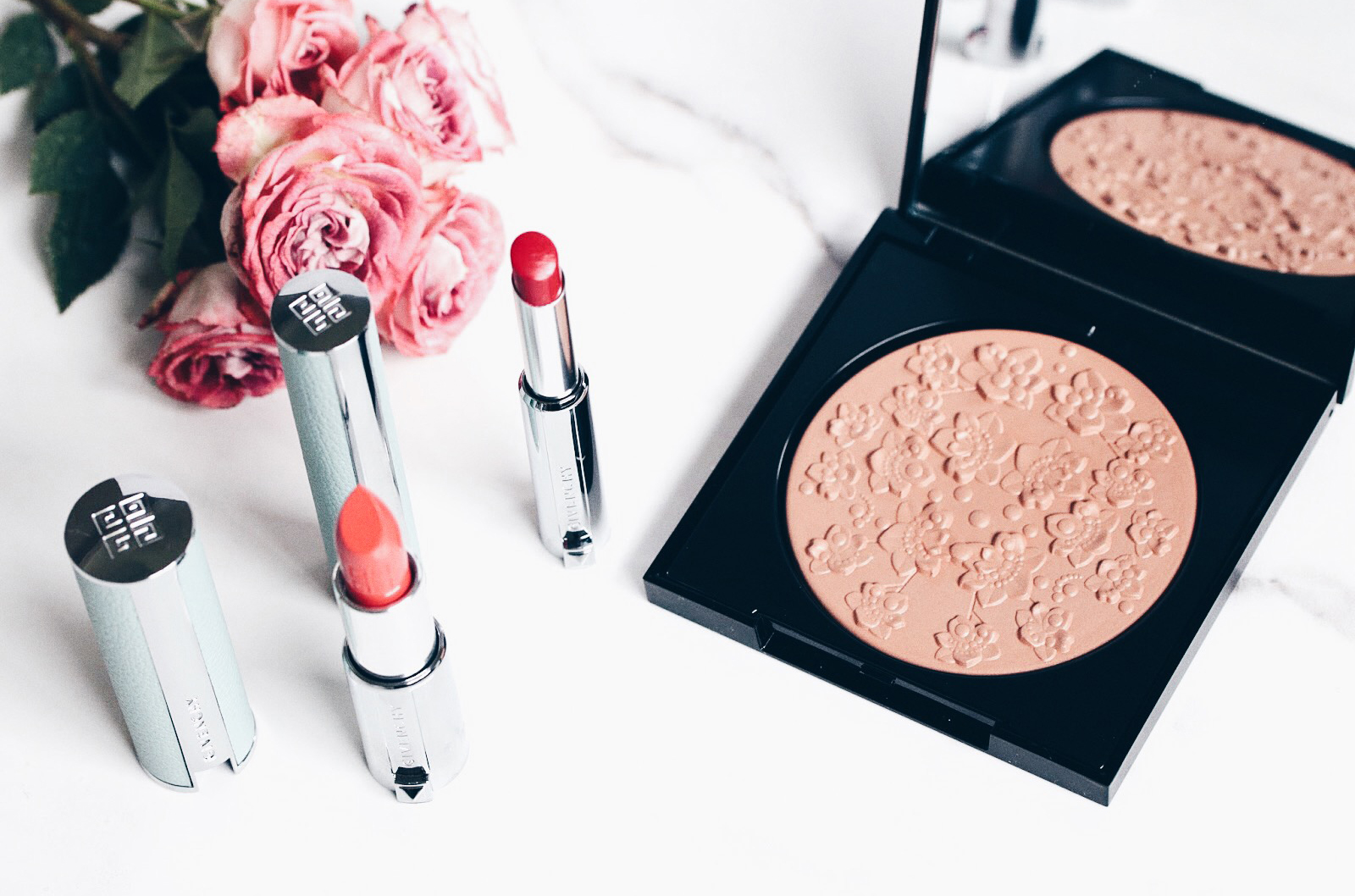 givenchy collection maquillage 2017 322 coral gypsophila 305 red gyspophila avis test swatches