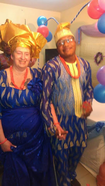 Lovely Couple! 29 Year Old Nigerian Man Weds 69 Year Old American Lover In Senegal (Photos)