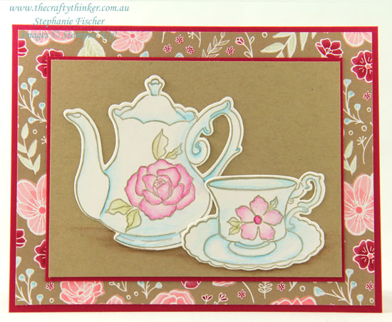 #thecraftythinker  #stampinup  #sneakpeek  #occasionscatalogue2019  #saleabration  #cardmaking  #simplecard , Tea Together, Tea Time, Occasions Catalogue 2019, Sale-A-Bration, Sneak Peek, Stampin' Up! Australia Demonstrator, Stephanie Fischer, Sydney NSW