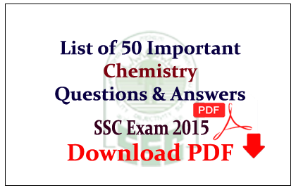 List of 50 Important Chemistry Questions and Answer Download