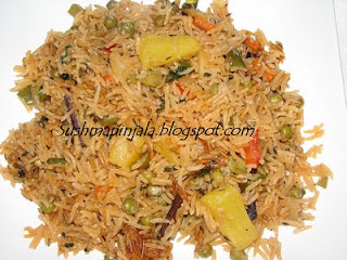Veg Biryani with Pineapple