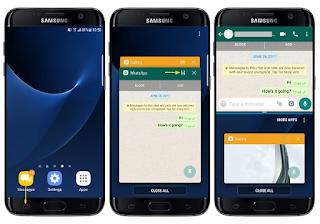 Cara Menggunakan Split Screen di Samsung Galaxy S8 / S7