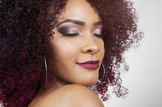 woman with stunning afro hair