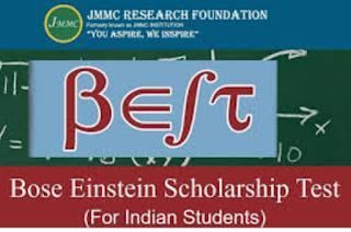 Bose Einstein Scholarship Test for School & College Students