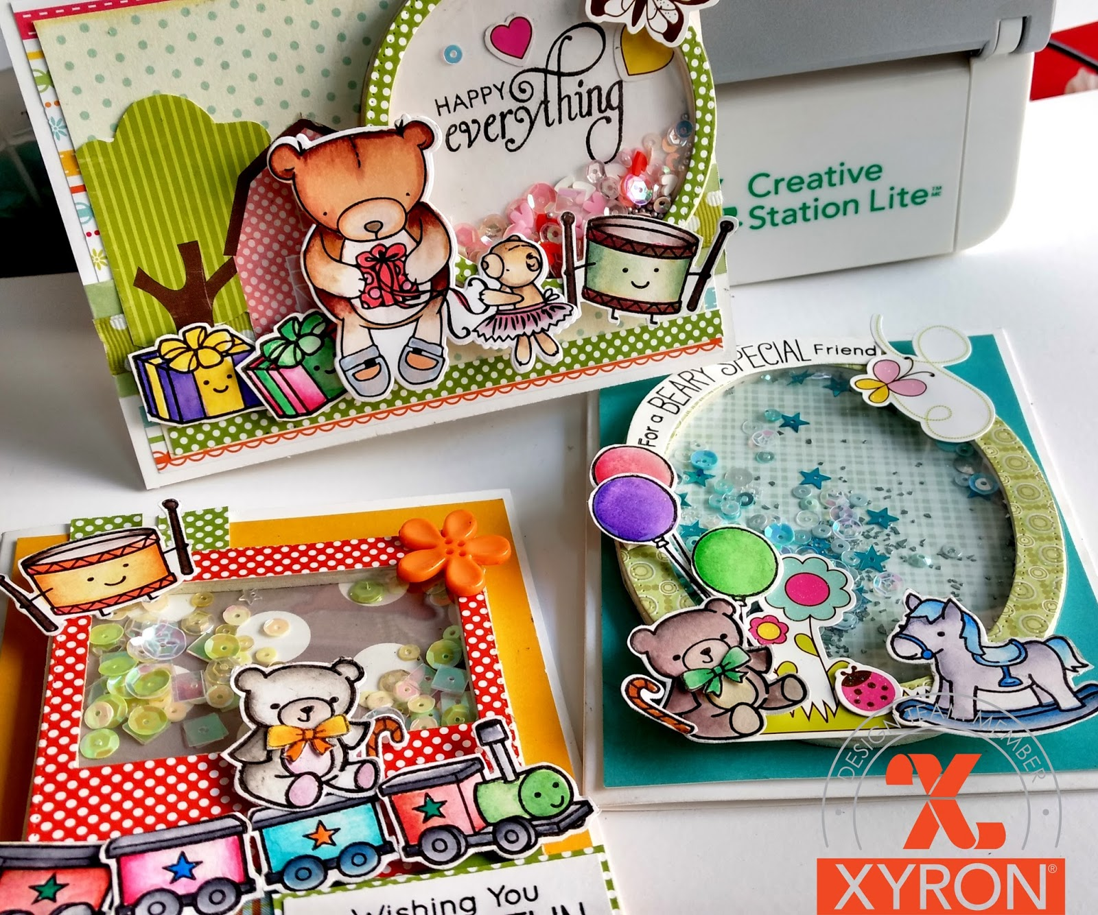 craftingforever-anita: SHAKER CARDS WITH XYRON