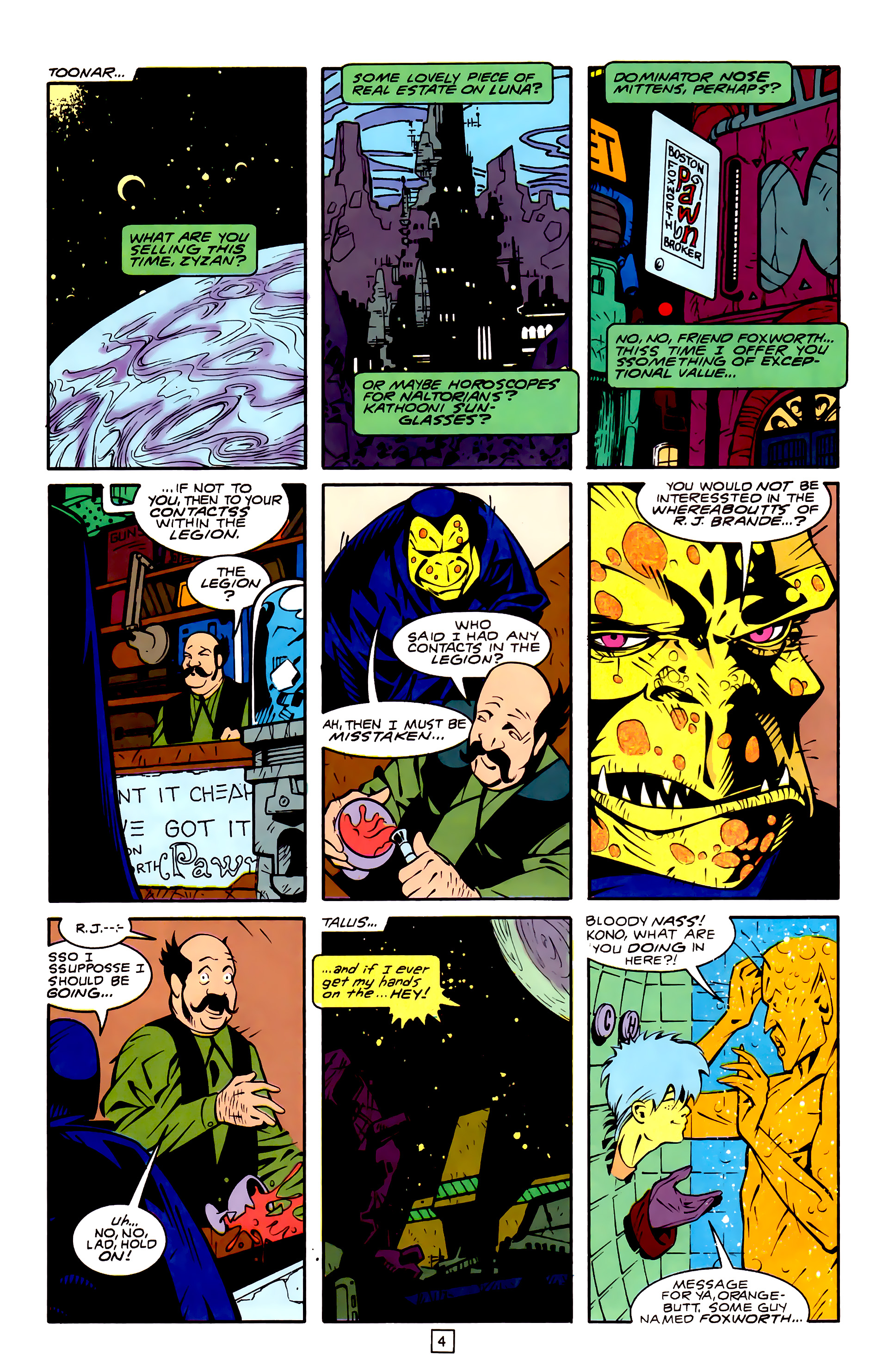 Legion of Super-Heroes (1989) 32 Page 4