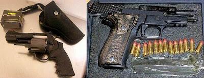 Loaded Guns Discovered at (L-R) JNU & ECP