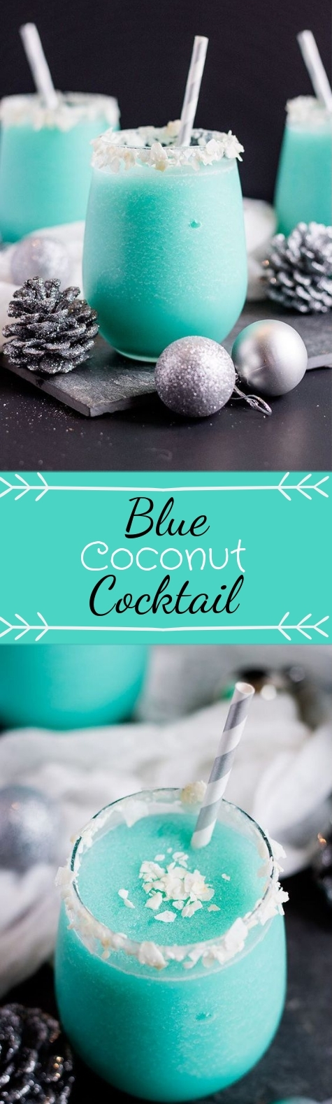 Blue Coconut Cocktail #christmas #cocktail