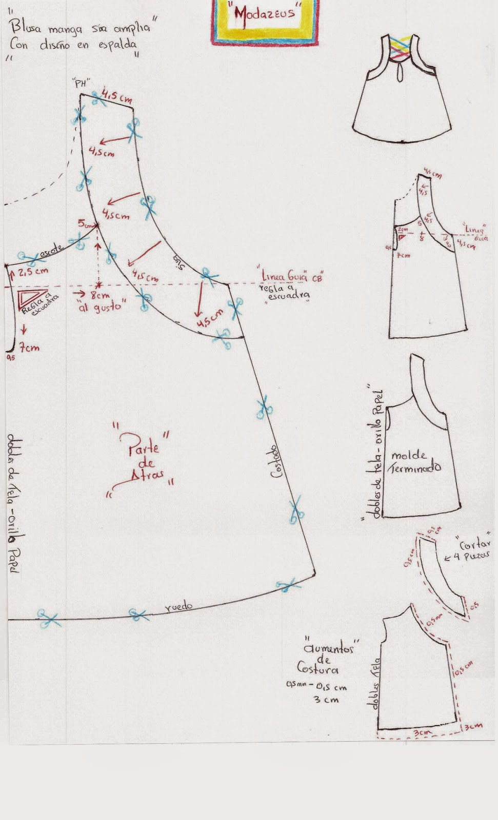 moldes y patrones de blusas