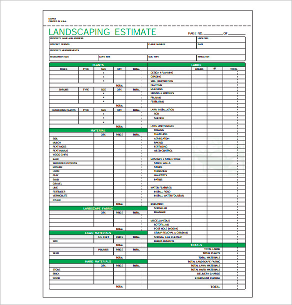 Printable Quotation Template in Excel and Doc - Excel Template