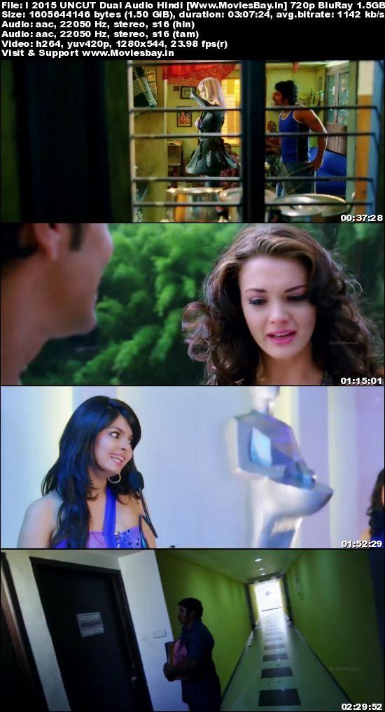 I (Movie) 2015 UNCUT Dual Audio Hindi 720p BluRay 1.5GB worldfree4u