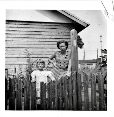 Lena and her mother, Natalie F. Vasilev in Shinagawa, Tokyo, sometime around 1951.