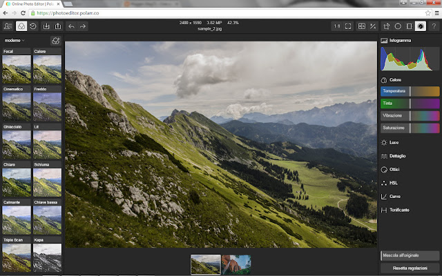 Screen shot di Polarr