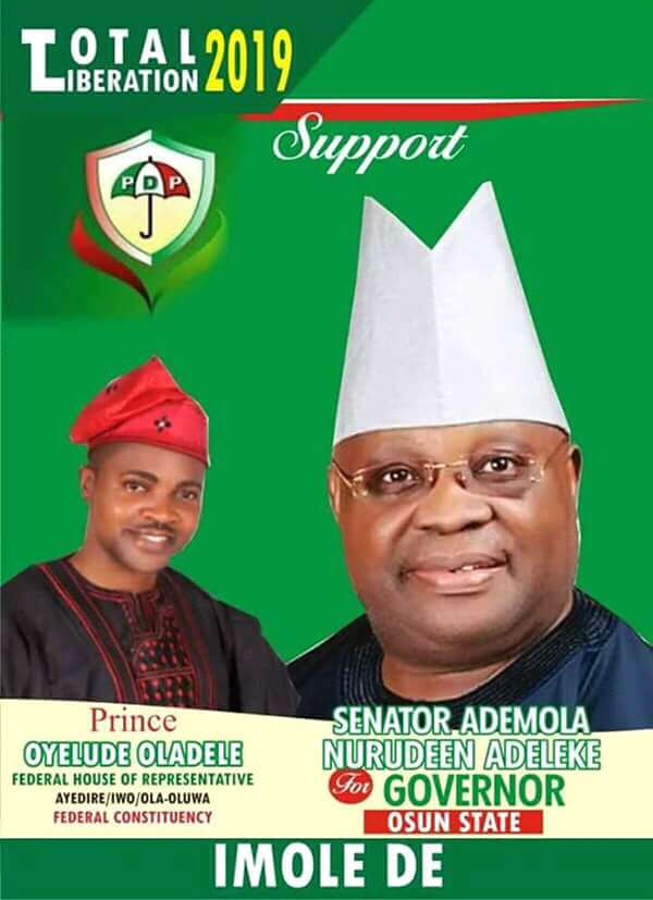 My Six Point Agenda will Redeem Osun State -Ademola Adeleke