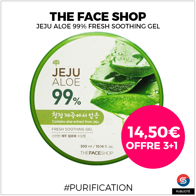 aloe vera the face shop 3+1