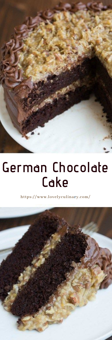 German Chocolate Cake #recipe #cakechoco