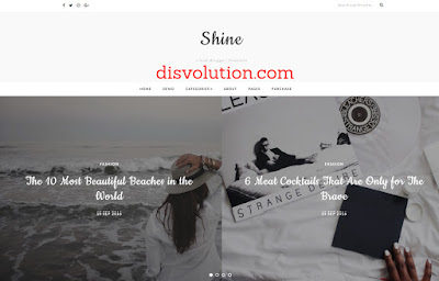 Template Terbaru 2017 Shine Blogger Template Download Gratis