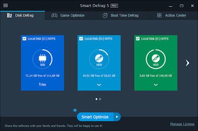 IObit Smart Defrag Pro 5.7.0.1137 Multilingual Full Crack