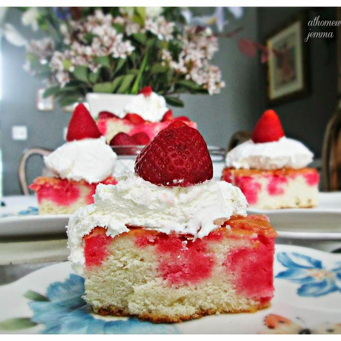 Fresh Strawberry Poke Cake