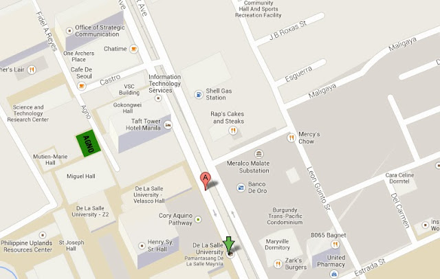 Map to Agno near De La Salle University