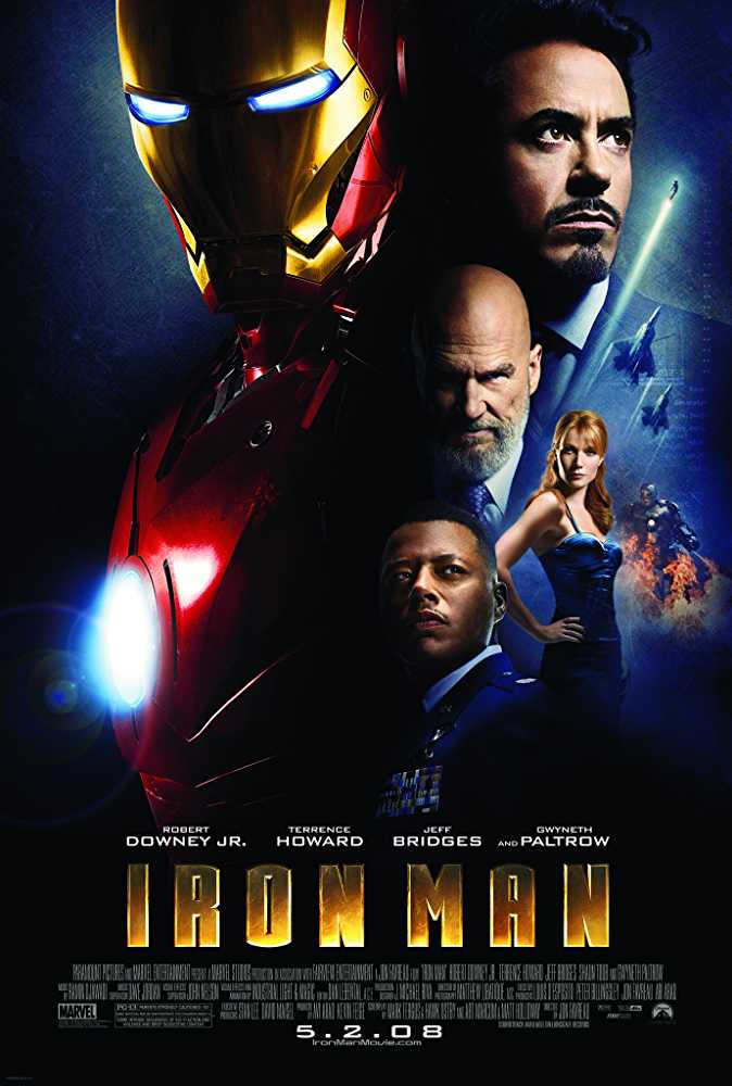 Poster Iron Man 2008 English 720p