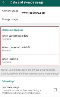 Cara setting whatsapp Agar gambar tidak otomatis masuk memori hp