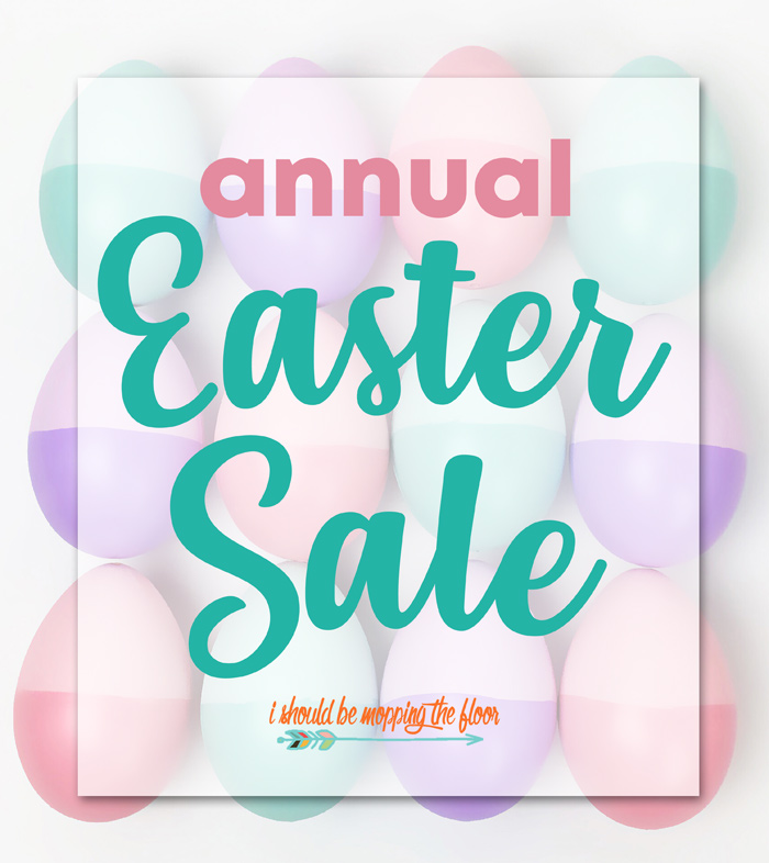 Easter Sale: I Should Be Mopping The Floor