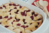 Tarta rústica de frambuesas y almendras-cocinando-con-neus