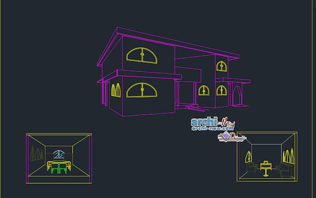 House 2 level ground floor in AutoCAD