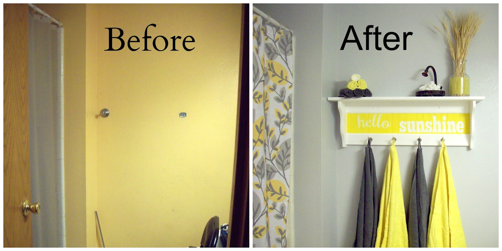 grey and yellow bathroom accessories - home decor - xshare