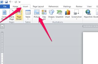 cara edit representasi menerima Ms Word
