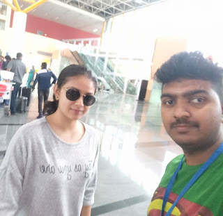 Keerthy Suresh in Yash Color T-Shirt with Cute and Awesome Lovely Smile with a Lucky Fan