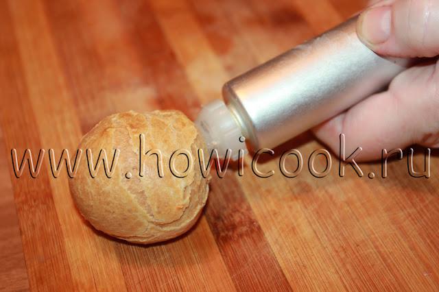 рецепт заварных пирожных с кремом с пошаговыми фото