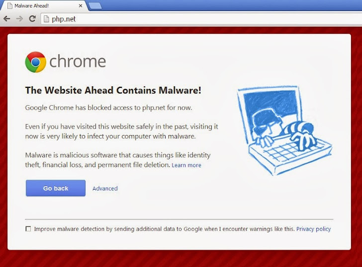 Google detected Malware on PHP.net website; Flagged as 'Suspicious' site