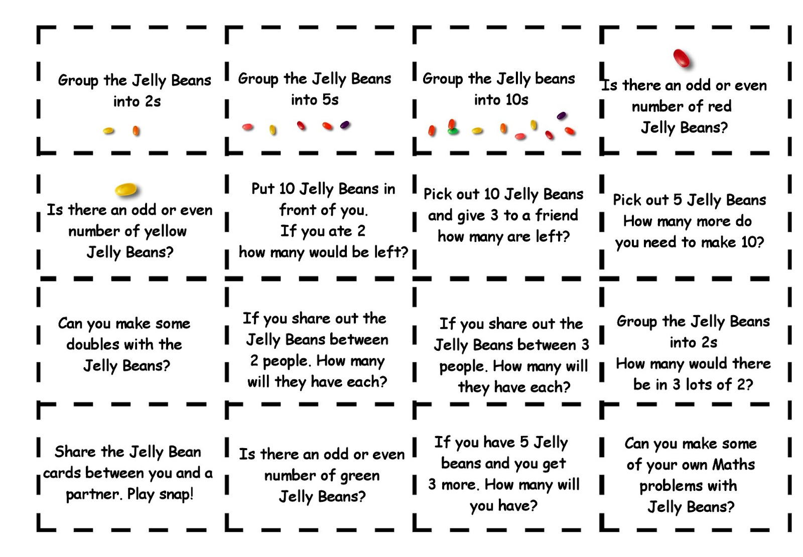 Debbie S Resource Cupboard Jelly Bean Maths