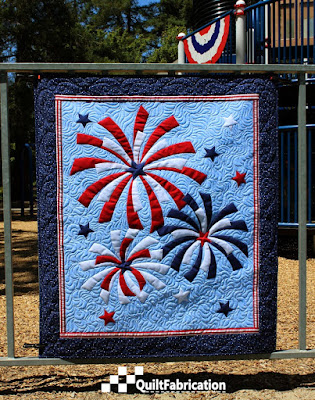 Fireworks wall hanging