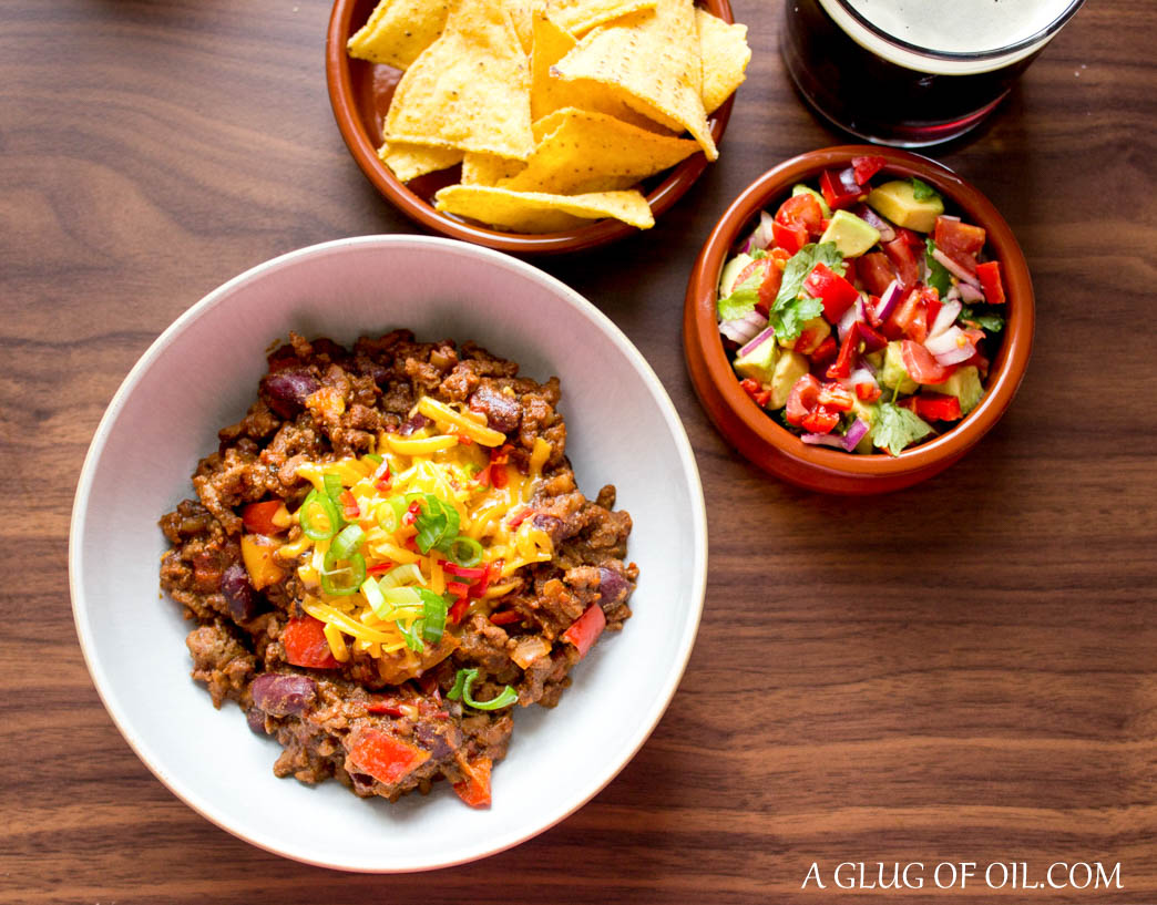 Beef chilli made with beer