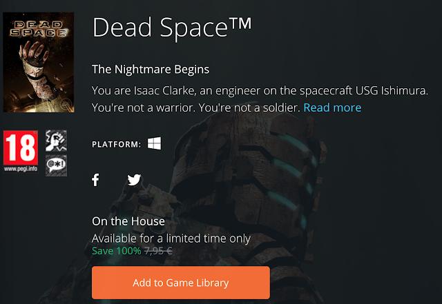 Dead Space gratis para PC