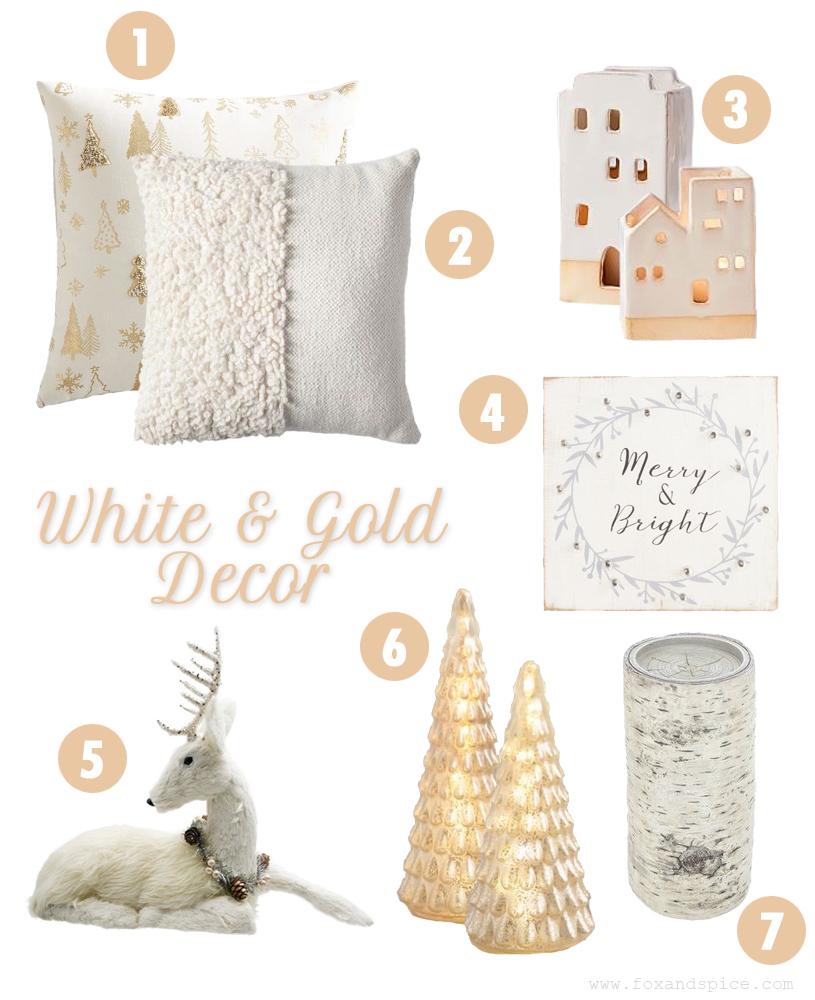 2018 Christmas Decor Roundup White & Gold