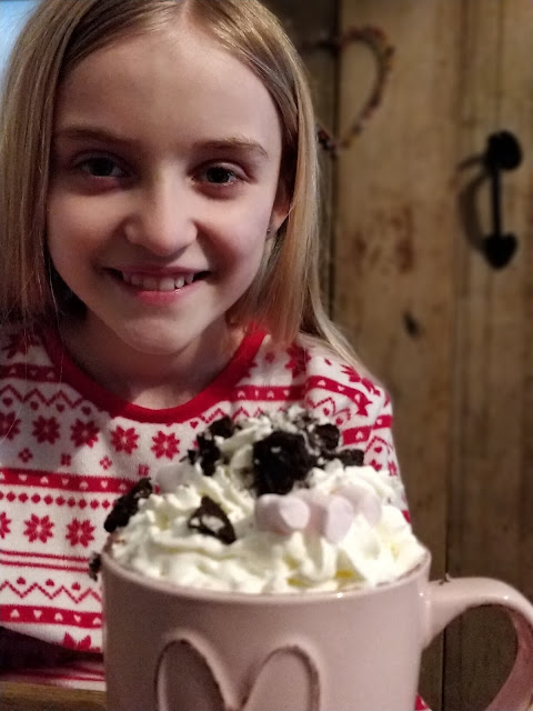 Girl with hot chocolate #OreoCookieQuest