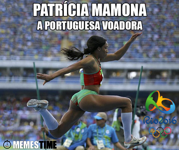 Memes Time Sexto Lugar no Triplo Salto no Rio de Janeiro – Patrícia Mamona A Portuguesa Voadora