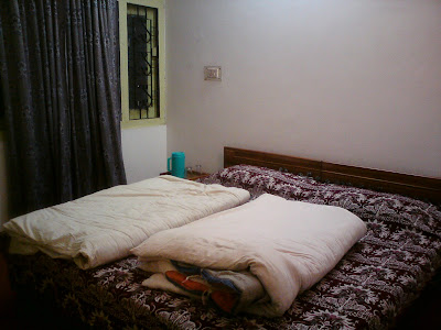 My room at the Garhwal mandal vikas nigam Ltd in Uttarkashi