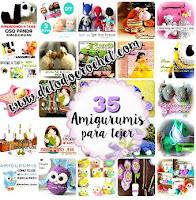 35 tutoriales de amigurumis