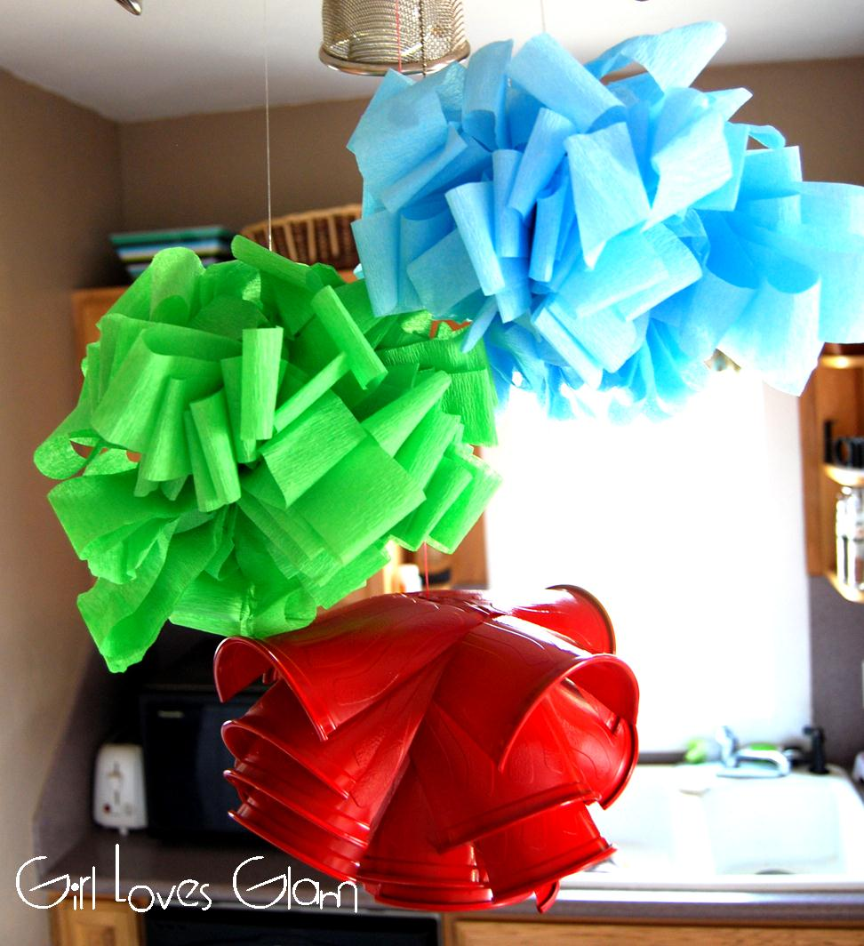 Streamer Flower Puffs Ikea Lamp Knockoff Girl Loves Glam